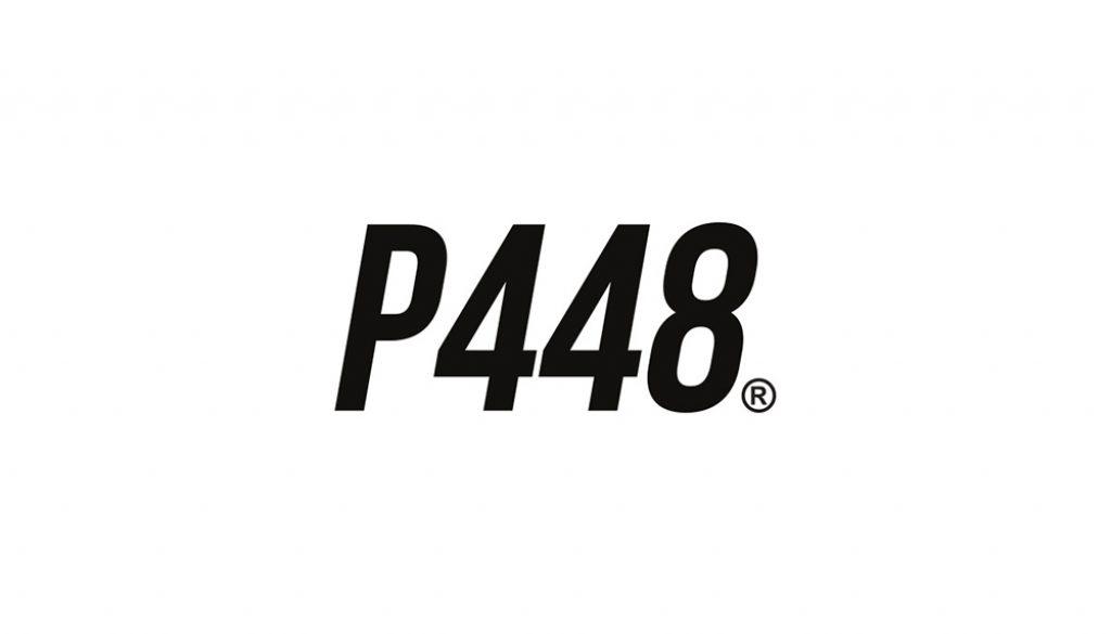 P448 logo zwart op wit